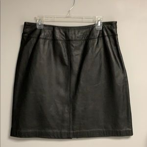 Black Leather Skirt Jaclyn Smith Classic Size 14